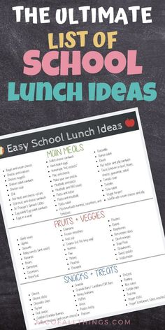 The ultimate list of school lunch ideas for toddlers and children. If you are out of healthy simple&; The ultimate list of school lunch ideas for toddlers and children. If you are out of healthy simple&; Kids Lunch For School, Healthy School Lunches, Cold Lunch Ideas For Kids, Easy Lunches For Kids, School Snacks, School Ideas, Lunch Snacks, Clean Eating Snacks, Kids Lunch Menu