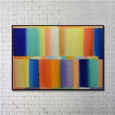 Contemporary Wall Art Colorful Abstract Wall Print with Black Frame 48