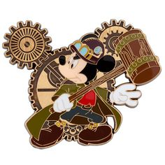 Mickey Mouse Steampunk Disney Pin - I want this pin!  Can't wait to be able to do more trading :)