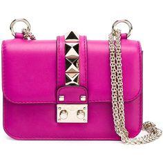 VALENTINO GARAVANI 'Glam Lock' shoulder bag ($1,895) ❤ liked on Polyvore