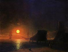Айвазовский._Феодосия._Лунная_ночь.1852