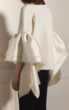 Caña Ruffled Sleeve Top by LEAL DACCARETT for Preorder on Moda Operandi