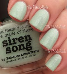 piCture pOlish 'Siren Song' swatched by The PolishAholic!  Shop on-line now:  www.picturepolish.com.au