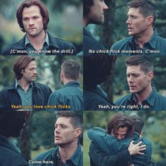 "Dean saying goodbye to Sam 11x23 ""Alpha and Omega"" [gifset]"