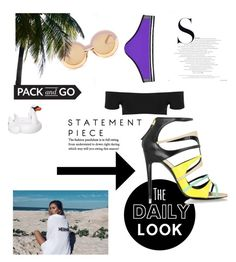 """Look 1 Swimwear Shoot"" by steffpitman on Polyvore featuring Sunnylife, Topshop, Karen Walker and Pierre Hardy"