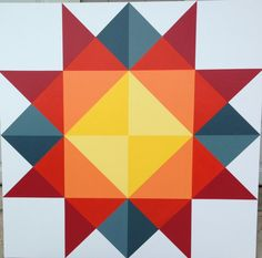 Barn Quilt Designs, Barn Quilt Patterns, Quilting Designs, Star Quilts, Quilt Blocks, Painted Barn Quilts, Barn Signs, Paper Quilt, Barn Wood Crafts