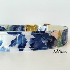Dog Collar Gold Dog Collar Floral dog collar dog collar by NicSews