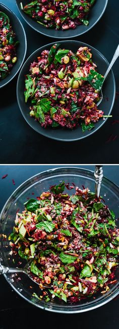 Reset with this colorful beet, carrot and edamame salad. | Vegan, dairy free, gluten free, and vegetarian. | Click for healthy recipe. | Via Cookie and Kate