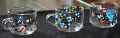 Hand painted tea cups