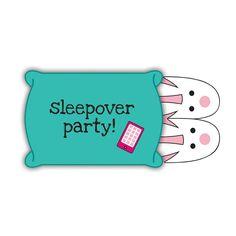 Sobre con pantuflas, buena idea para pijamas party invitation