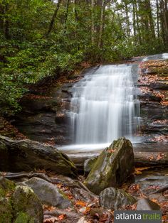 Hike to Long Creek Falls, a tumbling waterfall just off the Appalachian Trail in North Georgia
