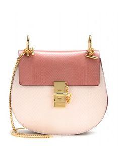 #chloe - drew python leather shoulder bag