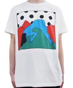 ROCKWELL - SLIDING DOWN TEE (WHITE) http://www.raddlounge.com/?pid=76715589      #raddlounge #style #stylecheck #fashionblogger #fashion #shopping #menswear #clothing #julianzigerli #harajuku #rockwellbyparra #rockwellclothing #parra