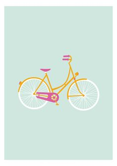 Orang & pink bicycle