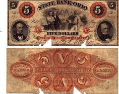 Obsolete bank note & private scrip issued by State ~ Ohio
