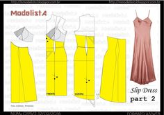 slip dress part 2 - diy how to make idea tutorial how to Corset Sewing Pattern, Gown Pattern, Easy Sewing Patterns, Clothing Patterns, Fashion Sewing, Fashion Fabric, Diy Fashion, Sewing Clothes, Diy Clothes