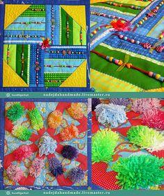 8bd1a980a4f3 Развивающие игрушки ручной работы. Ярмарка Мастеров - ручная работа  Массажный развивающий коврик -Трансформер.