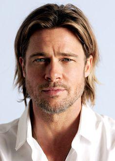 Brad Pitt rockin the long hair. Very nice Brad Pitt rockin the long hair. Growing Long Hair Men, Growing Your Hair Out, Grow Long Hair, Long Hair Cuts, Men With Long Hair, How To Grow Hair, Long Curly Hair Men, Short Hair, Long Hair Beard