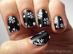 Let It Snow! Challenge 1: Snowflakes - Christmas Nail Art