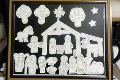 I made a DIY Illustrated Advent Calendar Nativity Set! Preschool Christmas, Christmas Nativity, Christmas Activities, Christmas Crafts For Kids, Xmas Crafts, Christmas Colors, Kids Christmas, Christmas Stuff, Christmas Bells