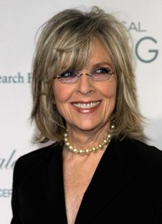 """Diane Keaton....(such a beautiful lady. I love her hair. And it looks to me like she's """"not"""" had work done, or she would not have the chicken neck....yet she's beautiful anyway!...Amazing!)"""