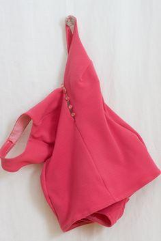 1950s Vintage Bathing Suit, Pinup Swimwear / Retro Summer Suit, MAGENTA. $65.00, via Etsy.