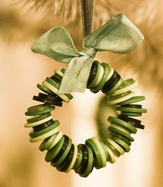 Christmas Wreath - cute buttons.