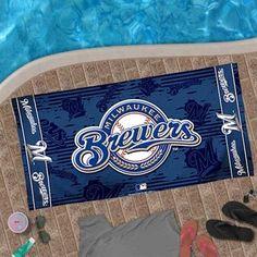 McArthur Milwaukee Brewers 30'' x 60'' Navy Blue Beach Towel - $19.95