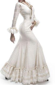 pp Dance Dresses, Bridal Dresses, Prom Dresses, Flamenco Dresses, Flamenco Costume, Spanish Fashion, Moda Boho, White Outfits, Elegant Dresses