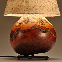 Gourd Lamp Landscape Tree Design