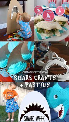 Shark Crafts & Parties - Shark Week  |  OHMY-CREATIVE.COM