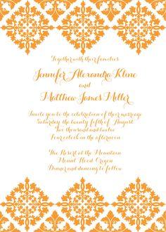 Colorful Spanish Tiles Letterpress Wedding Invitation. $7.80, Via Etsy.