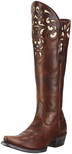 Ariat Western Boots Womens Cowboy Hacienda Vintage Caramel