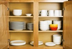 This is a guide about organizing your kitchen. Making food in a disorganized or messy kitchen can be daunting and difficult. Keeping your kitchen organized can save you time and money on food preparation. Kitchen Cabinet Organization, Kitchen Furniture, Kitchen Cabinets, Kitchen Appliances, Kitchen Appliance Storage, Cabinet Furniture, Kitchen Organization, Kitchen Trends, Open Floor Plan Kitchen