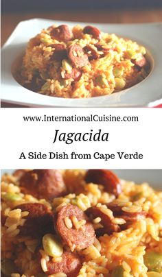 "Cape Verde Jagacida (Portuguese Rice) Jagacida or simply ""jag"" as it is referred to in Cape Verde is a wonderful side dish full of flavor. It is also know as Portuguese rice. Your family will love this recipe Verde Recipe, Portuguese Rice, Portuguese Recipes, Spanish Recipes, Rice Dishes, Food Dishes, Linguica Recipes, Kitchen, Recipes"