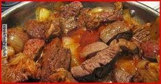 Ингредиенты: мясо (говядина или свинина) — 500г, лук — 2 шт, томатная паста — 3 ст. ложки, мука — 1 ст. ложка, перец, соль, лавровый лист, зелень Приготовление: Мясо нарезаем кубиками. Лук нарезаем мелко. Масло разогреваем в глубокой сковороде и обжариваем мясо на сильном огне в течение 5 минут. Добавляем лук и жарим, периодически помешивая …