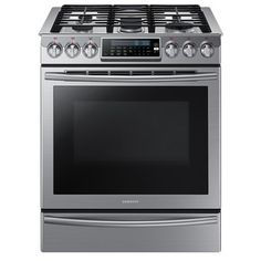 Best Gas Ranges no. Samsung Slide-In Gas Range. For those who love to cook and don't want to be hamstrung by an ordinary cooktop or oven, though, this Samsung beauty is the best gas range you can find. Smart Kitchen, Home Depot, Ranger, Slide In Range, Cast Iron Griddle, Griddle Grill, Convection Cooking, Single Oven, Gas Oven