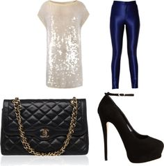 """""""chanel sparkle"""" by dreamer-dx on Polyvore"""