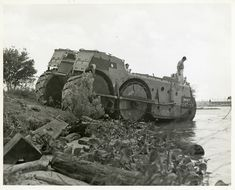 Late model Higgins Swamp Cat armored amphibious assault vehicle, with six wheel drive.