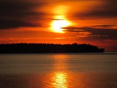 'Sunset Reflections' by Andre Andropolis. Taken at Andropolis Cottages, Sturgeon Bay, Door County, WI