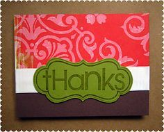 "Love the BIG ""thanks"" font"