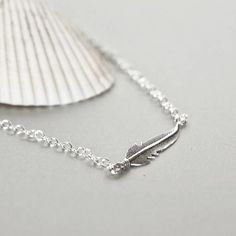 Sterling Silver Anklet Silver Feather Anklet Feather Anklet