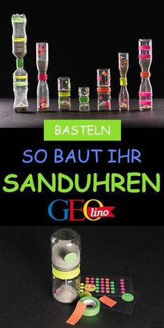 Sanduhren basteln: So gehts! Wir basteln Sanduhren im Handumdrehen! Die Anleitu… Making hourglasses: That's how it works! We make hourglasses in an instant! You will find the instructions GEOLINO. it Yourself The post Diy École, Easy Diy Crafts, Diy For Kids, Crafts For Kids, Diy Pillows, Hourglass, Pin Collection, Kids And Parenting, It Works
