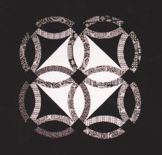 Black and white wedding ring