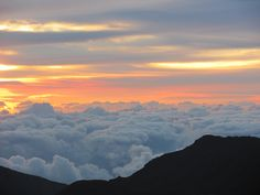 Sunrise at Haleakala Summit. It was the most beautiful place I have been.