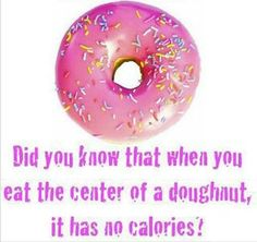 Thinking about having a doughnut? Here's some good news...