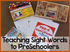 preschool pre-k kindergarten homeschool teaching resources printable pack unit learning Dolch Fry