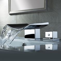 I can't stop looking.  Grop Contemporary Wide Spread Sink Faucet - US$119.99 : Homary.com