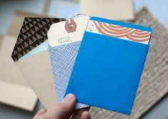 DIY: handmade envelopes