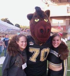 Western Michigan University Broncos - costumed mascot Buster Bronco